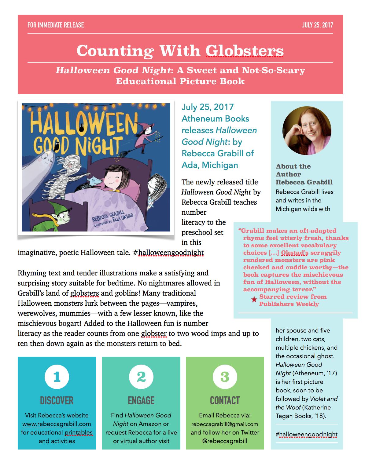 Halloween Good Night By Rebecca Grabill Press Release