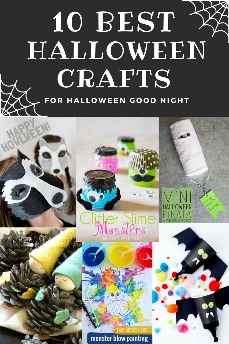 10 Best Crafts to go along with the picture book by Rebecca Grabill and Ella Okstad, Halloween Good Night