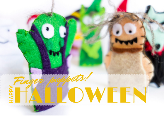 A frightening host of finger puppets perfect for Halloween in this tutorial with FREE downloadable patterns! So easy to make. Included are: Globster, Wood Imp, Werewolf, Mummy, Zombie, Witch, Goblin, Ghost, Vampire, and Boggart. Just like the book Halloween Good Night by Rebecca Grabill.