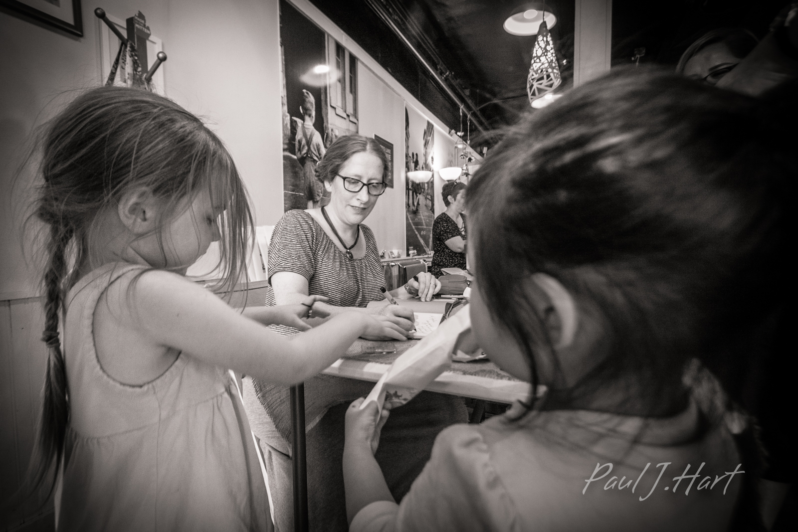 Rebecca Grabill signing her picture book, Halloween Good Night. Photo by Paul J. Hart.