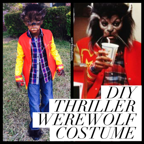 Get your Teen Wolf on, literally with this costume tutorial. Or I guess it's supposed to be  Thriller.  Still, wolfish and fun!