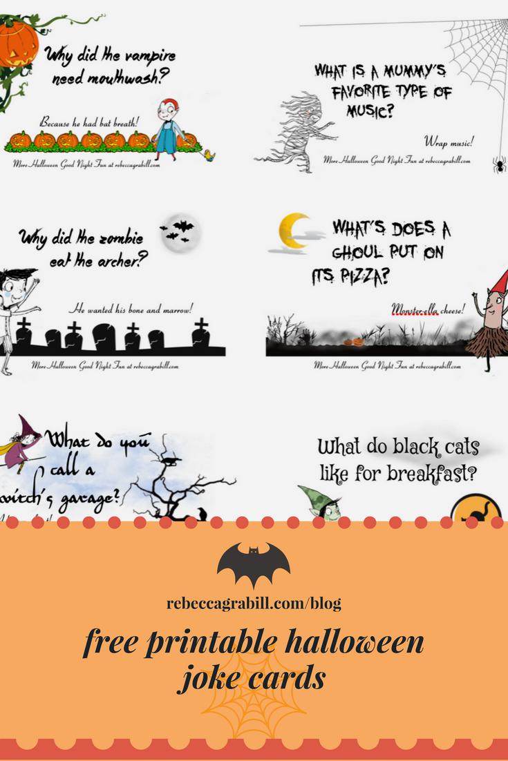 Free Printable Halloween Joke Cards