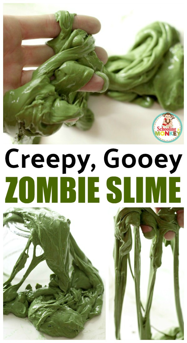 Who doesn't love slime! Here's a craft sure to delight: Zombie slime. Yuck!