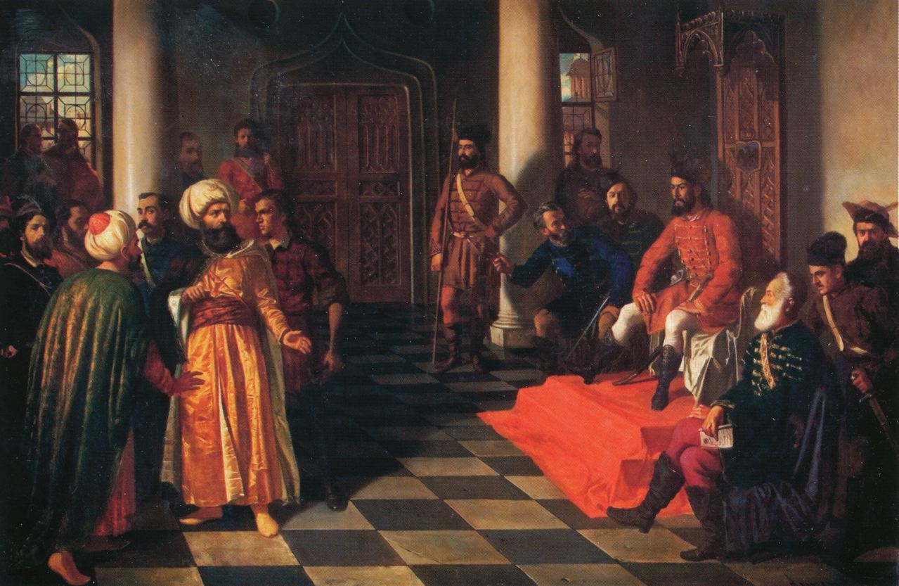 Vlad the Impaler holding court.