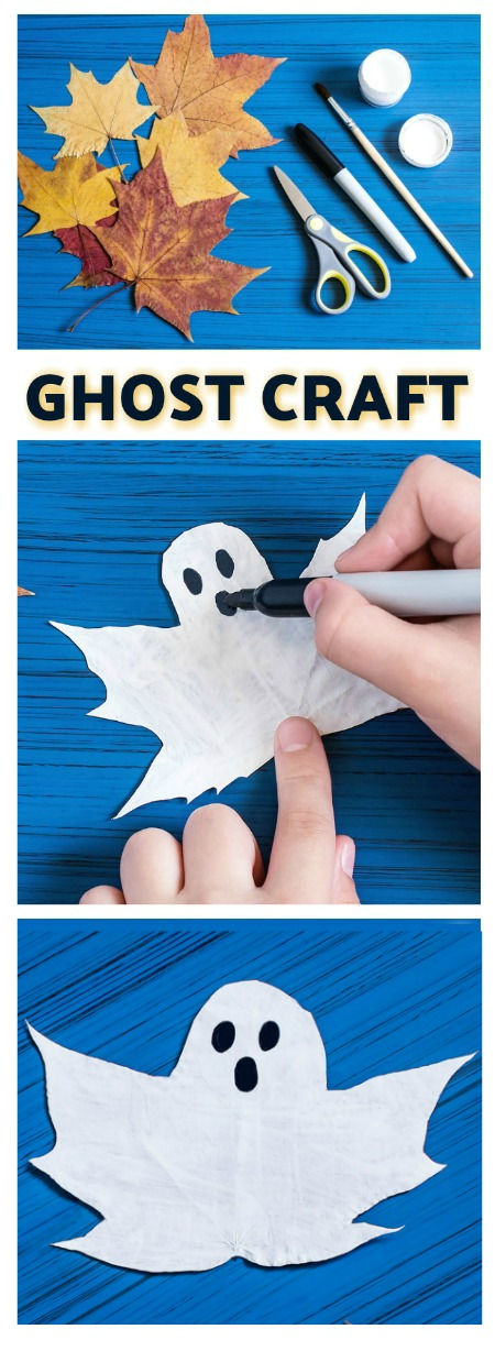 What's more fun than ghosts? Collecting autumn leaves and turning them  into  ghosts!