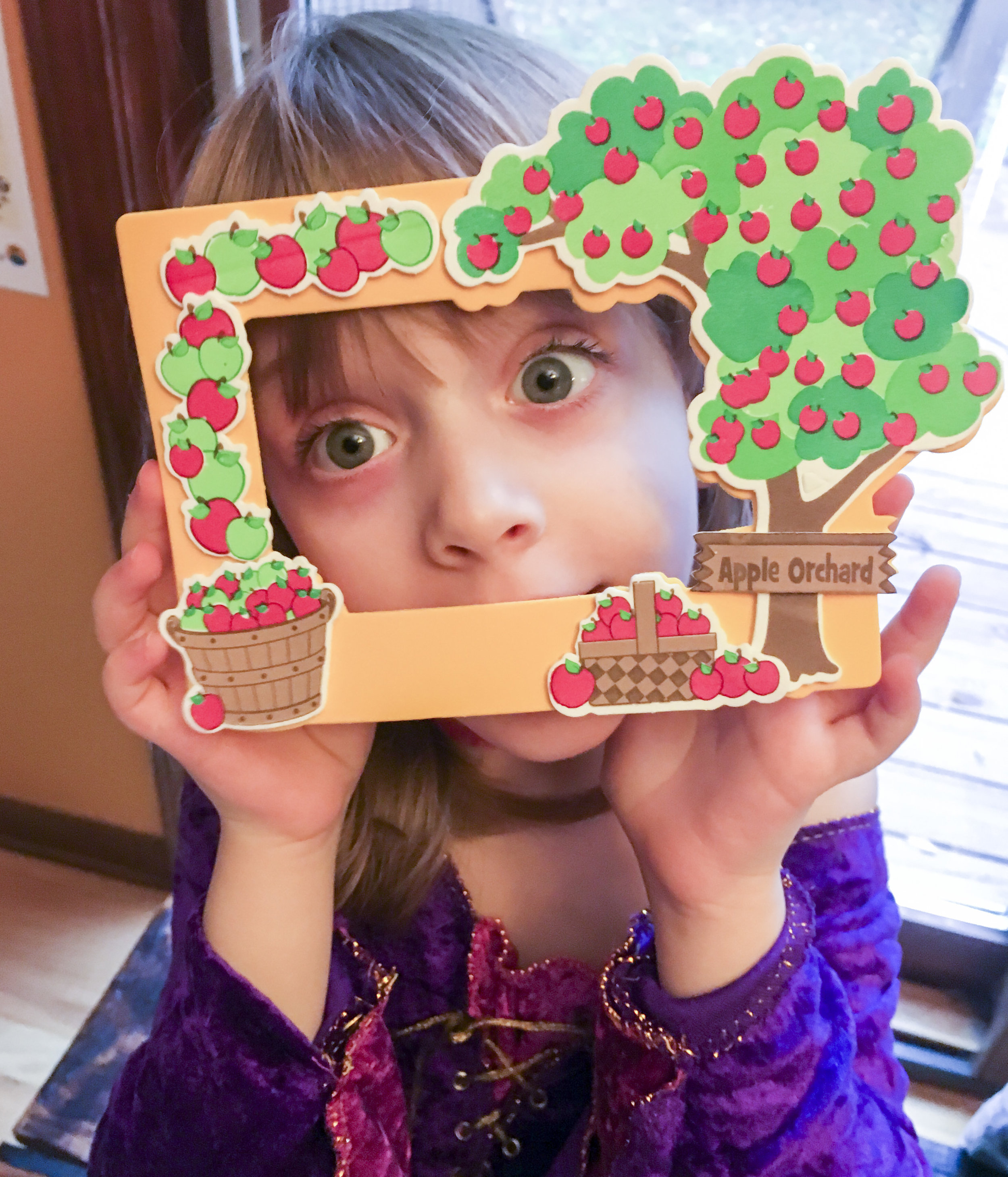 Apple-ThemedActivities - Like a magnetic picture frame!