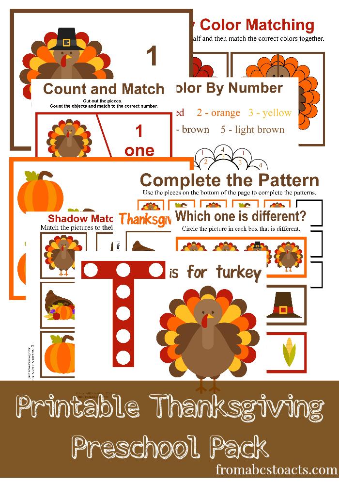 Easy, Fun - Thanksgiving printables