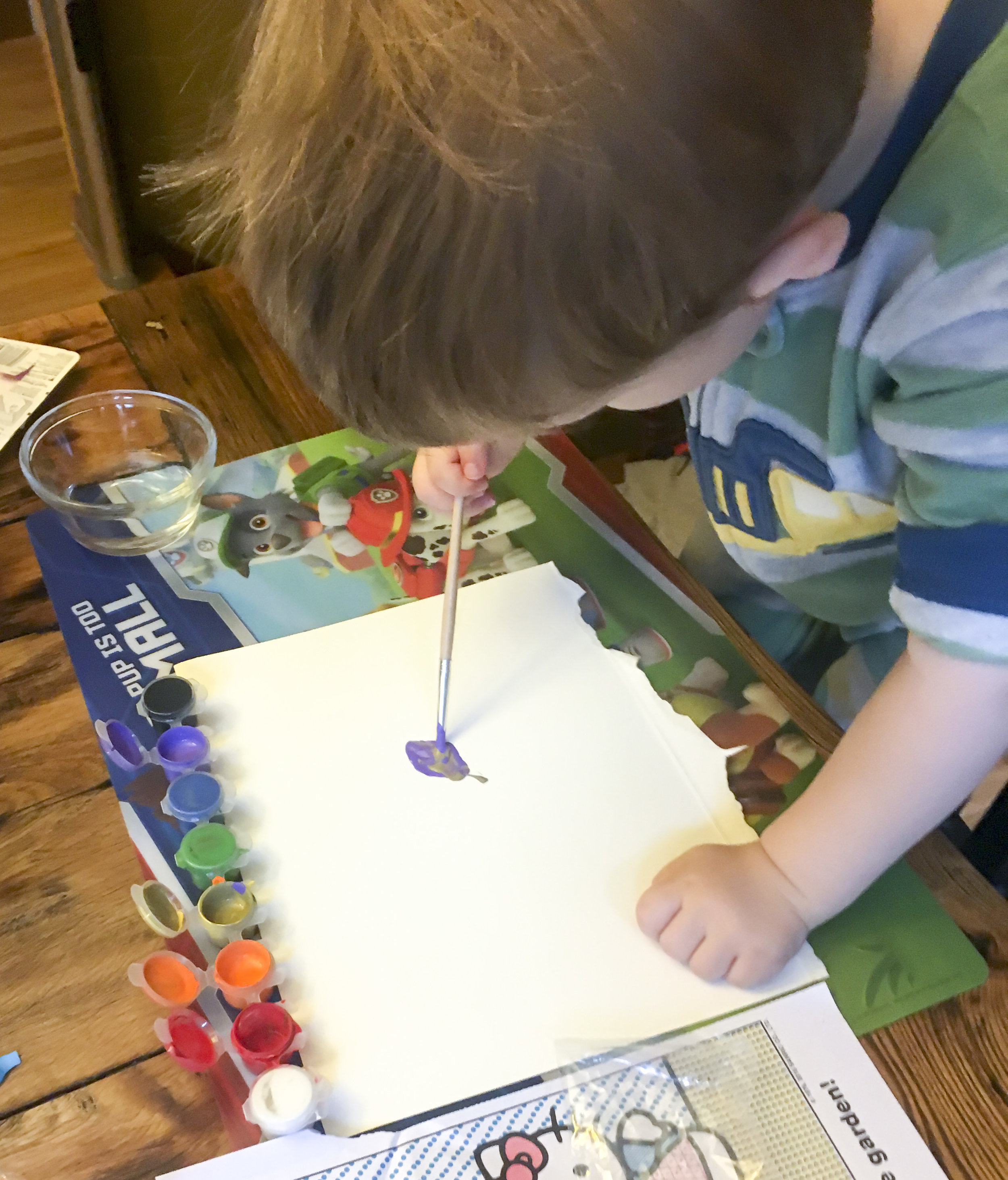 Even Littles Like to Paint!