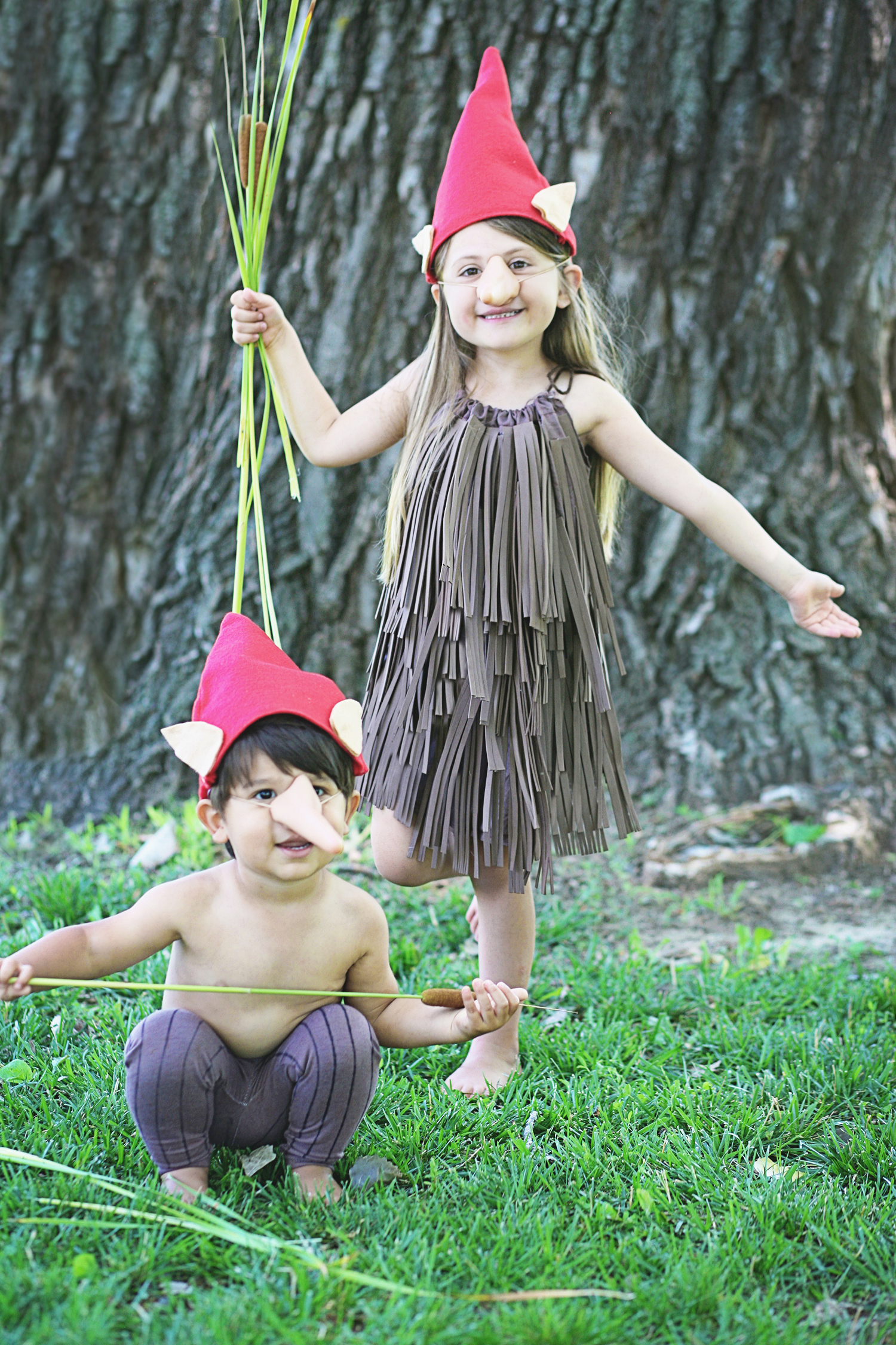 Halloween Costumes: Wood Imp boy and girl to go with the book Halloween Good Night by Rebecca Grabill!