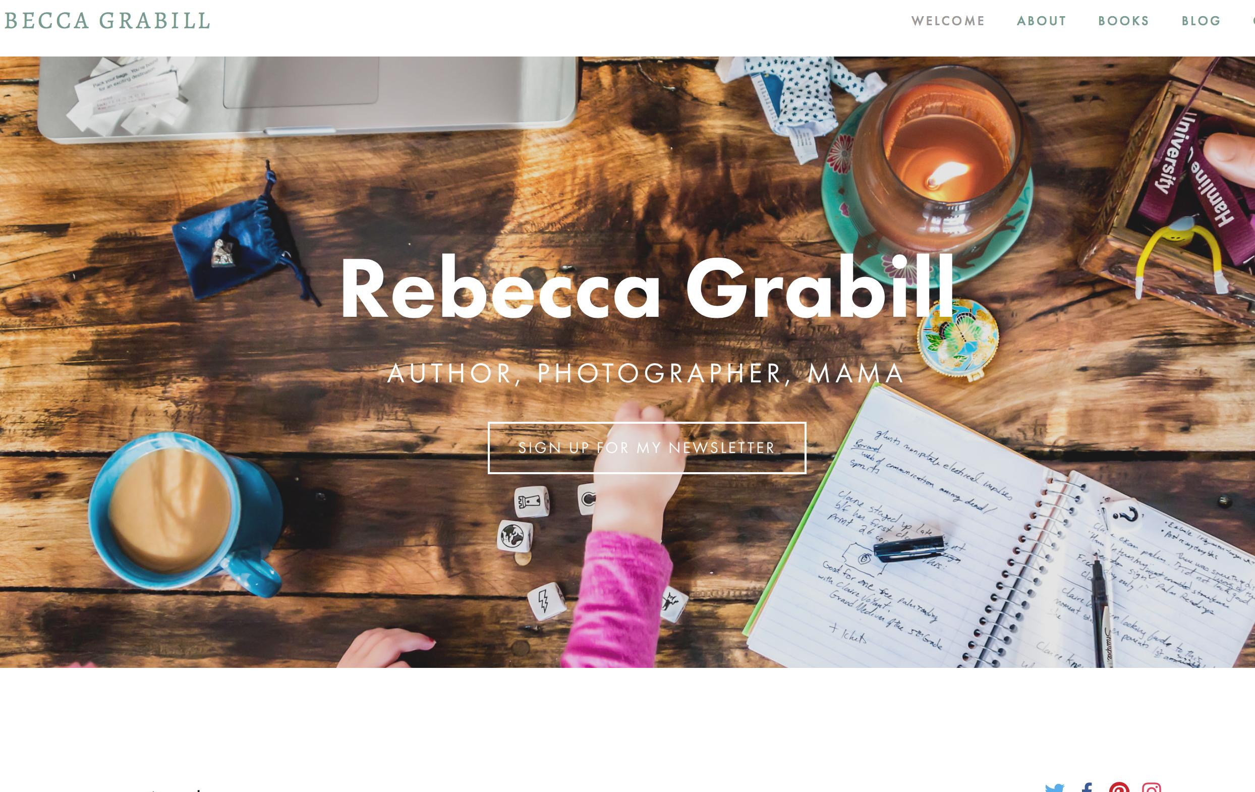 My old site rebeccagrabill.com