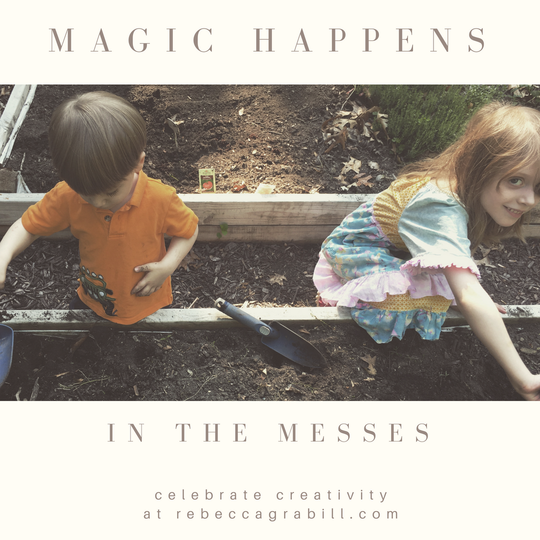 Magic Happens in the Messes: be inspired in childlike creativity at rebeccagrabill.com.