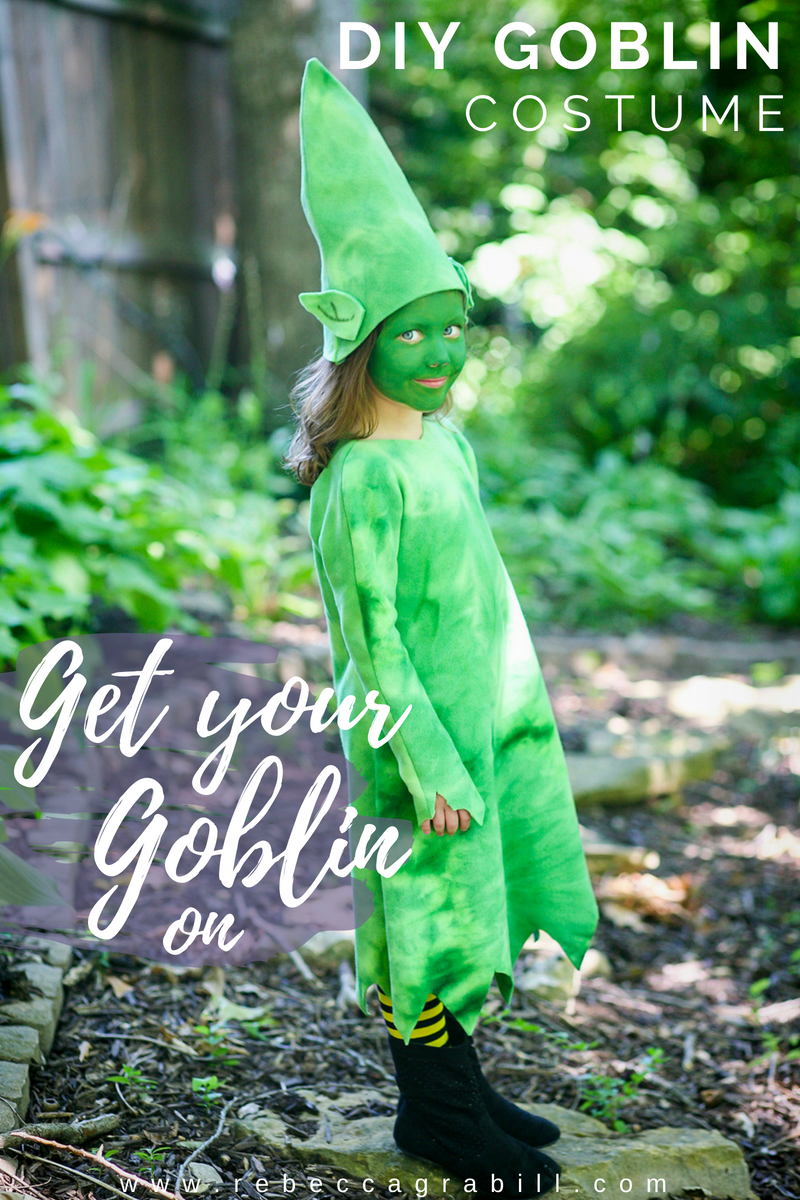 Get your goblin on with this easy, no-sew Halloween costume!