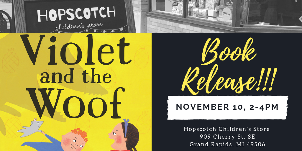 Celebrate the release of Violet and the Woof with Rebecca Grabill at Hopscotch Children's Store!