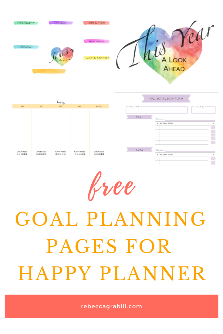 Free Happy Planner Goal Planning Printables for Creatives