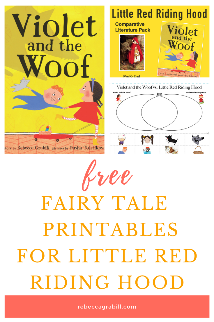 Free printable pack for little red riding hood! Compare and contrast with venn diagram and other worksheets for classic fairy tale study.