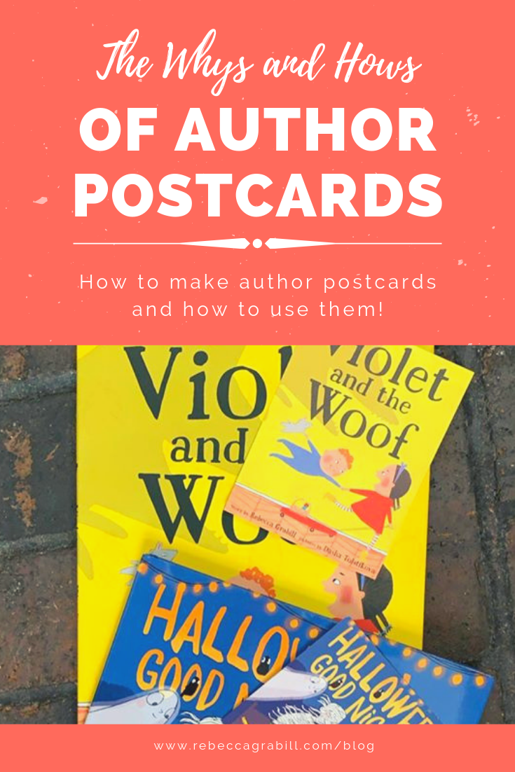 Why you should make an author postcard for your book, and how you can use it!