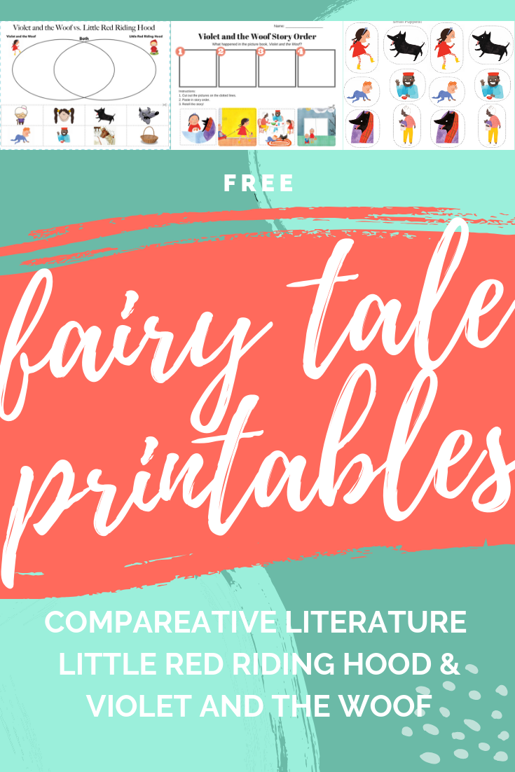Free fairy tale comparison printables little red riding hood