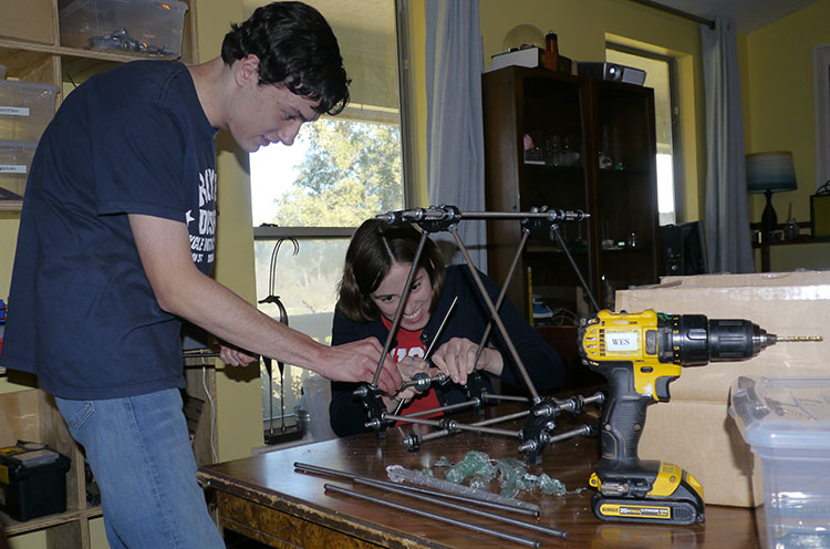 Flynn and Jacquelyn, who will be our first two Skybridge graduates, building a 3D printer. We could have simply bought a printer, but they wanted to build one. And I love the idea that our students are leaving a maker legacy for future Skybridge kids to use for creating.