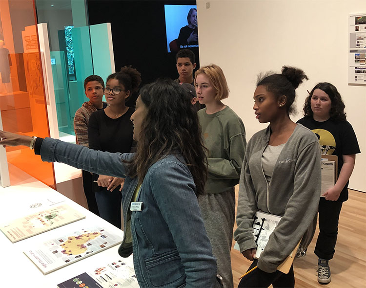 Headwaters students deep in exploration at the Blanton Museum of Art last December. How active—and interactive, and proactive—should your learning be?