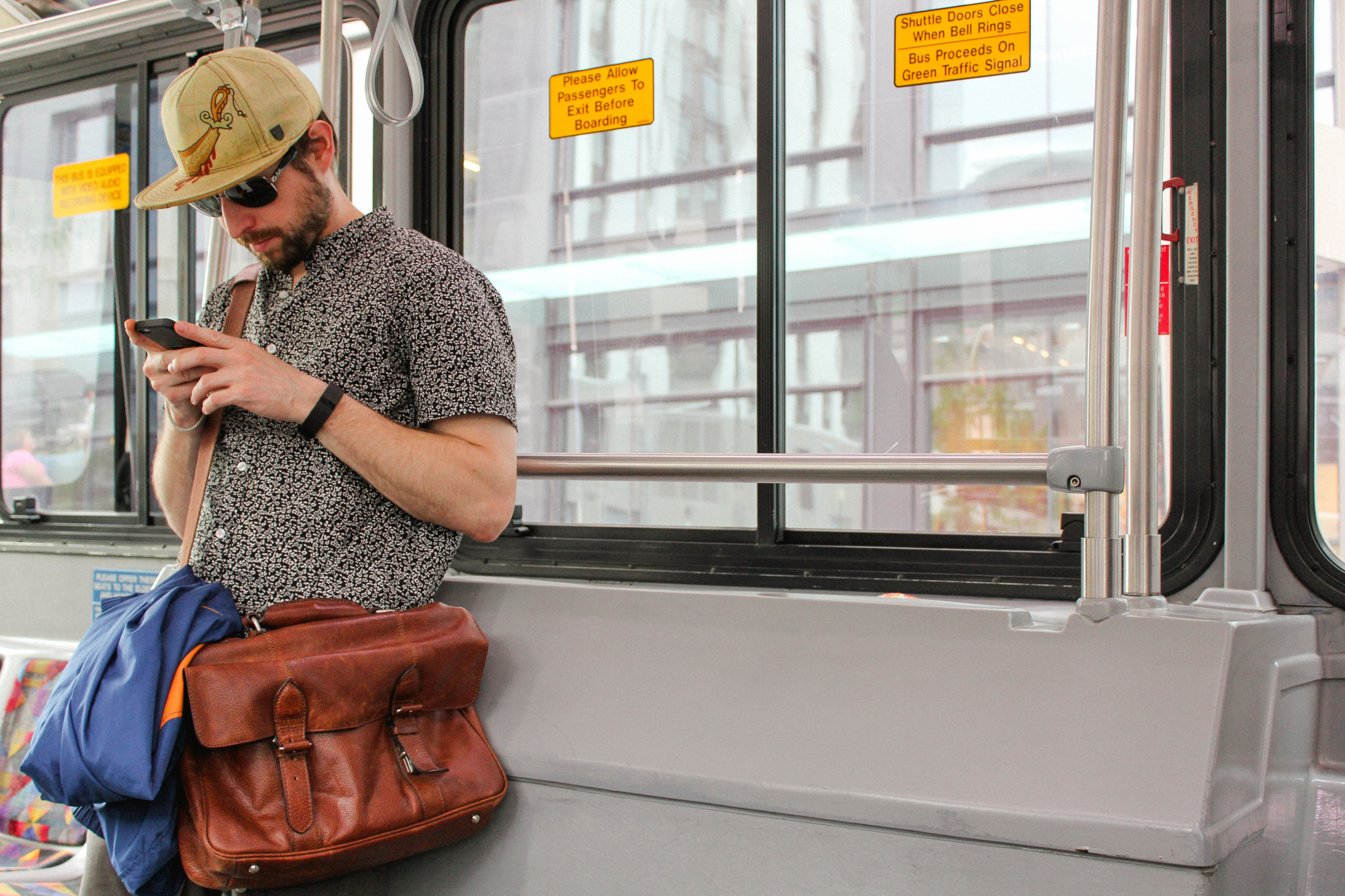 A random stylish man on the bus.