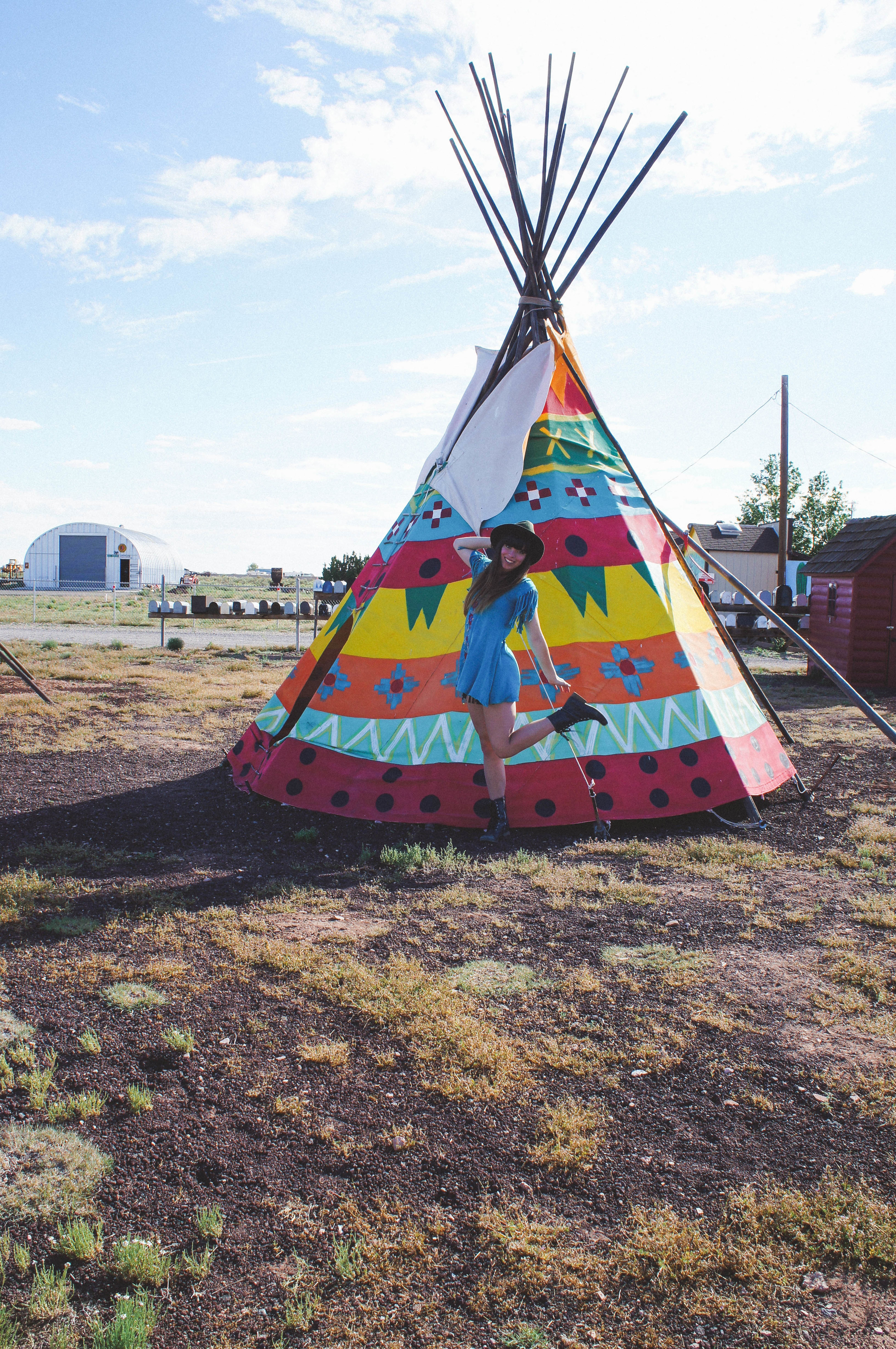 Found some tepees and fell in love.