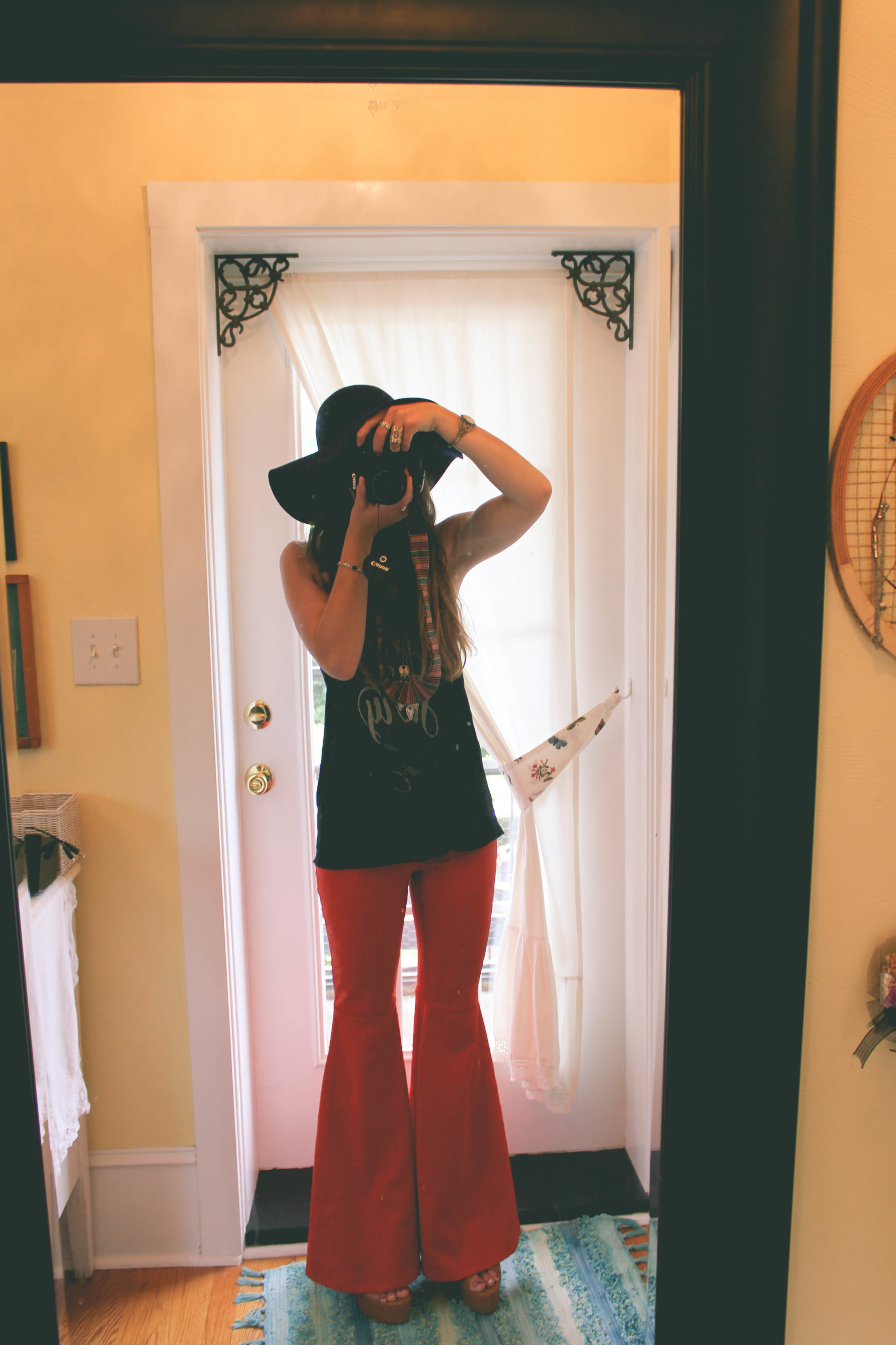 Shirt:  Sevenly *Pants:  CC Belle * Shoes: thrifted * Hat: J Crew