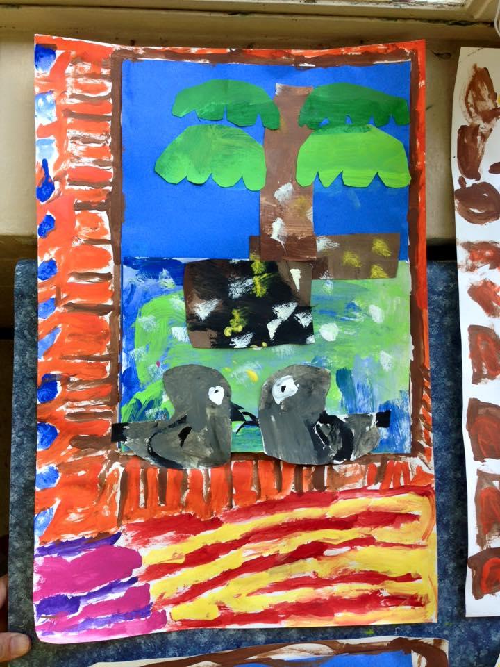 A second grader's art