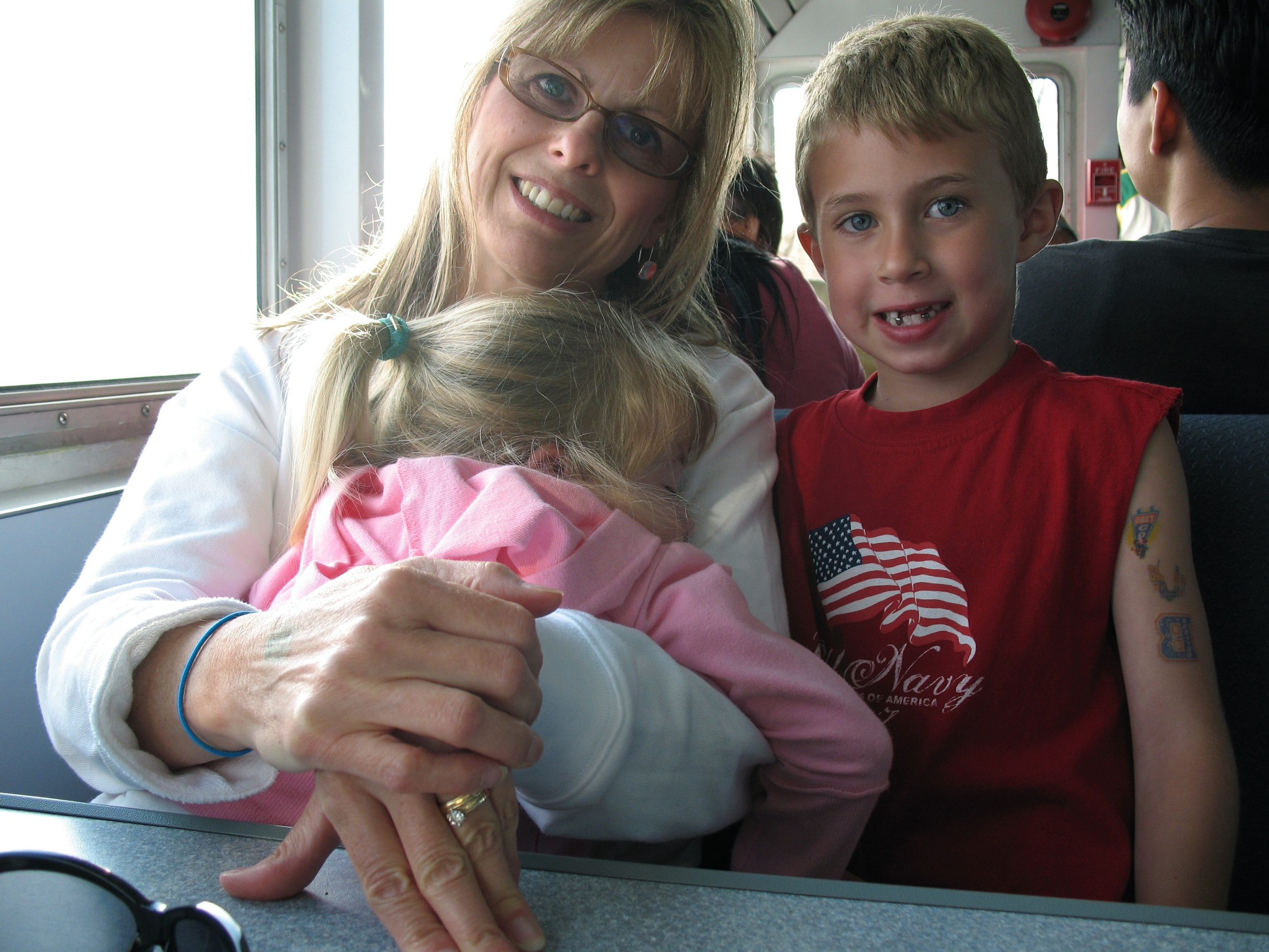 GRANDMA, ROSS, AND KENZIE ON THE WAY BACK
