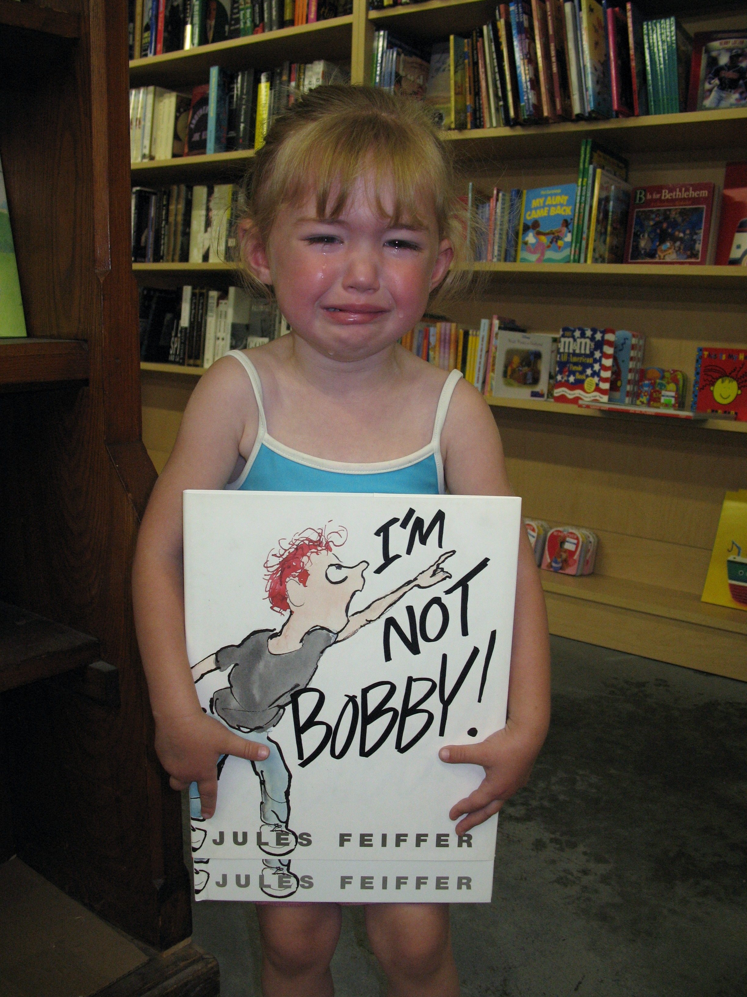 kenzie upset because we would not buy her that book
