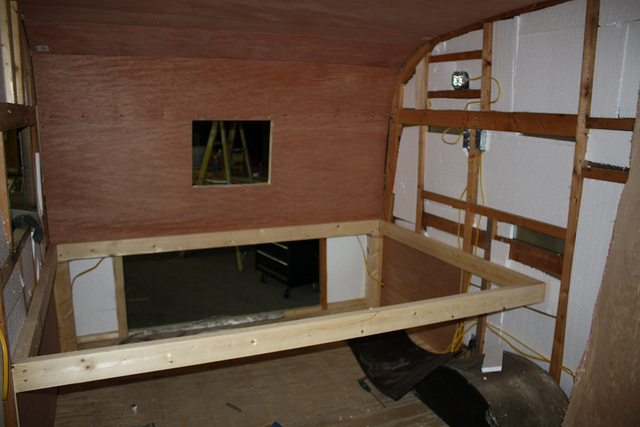 THE BED FRAMED - IT WILL BE A DOUBLE