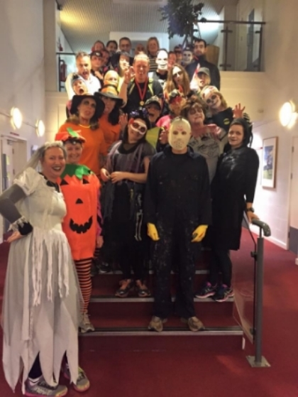 The Halloween  Spectacular was fangtastic.  Riverside looked spooktacular, there were some amazing costumes and  The Mighty Pledge  were fabulous as always.  Thanks to Ollie, Hannah, The Mighty Pledge and everyone at  The Riverside Hote l for an amazing night.   (Thanks Emma King for the photo).