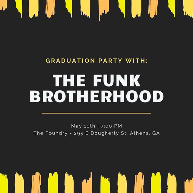 Grad party this Friday @thefoundryathens #ugagrad #athensga