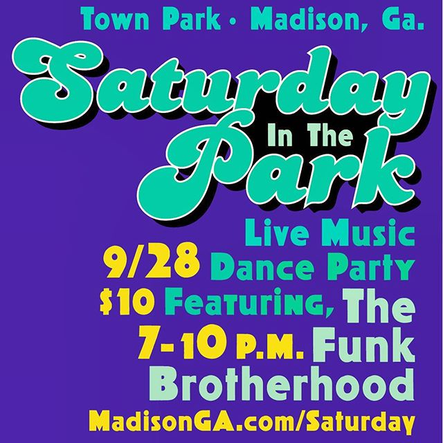 The brotherhood is excited to get down this weekend in @cityofmadisonga we are bringing out the full band for this one! Gonna have a funky good time! #funk