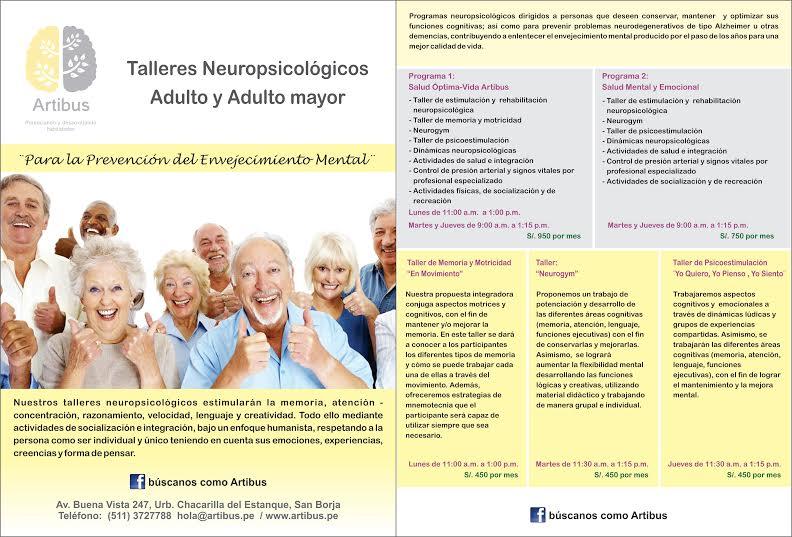 Talleres Neuropsicológicos para el Adulto Mayor