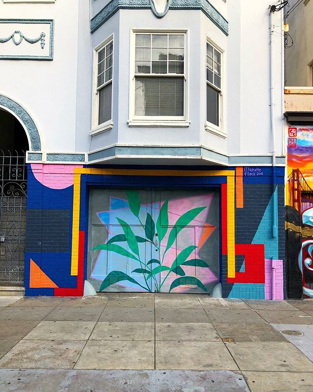 San Fran Disco 😍 · · · #glordfoundsanfranbound #sf #color #colour #mural