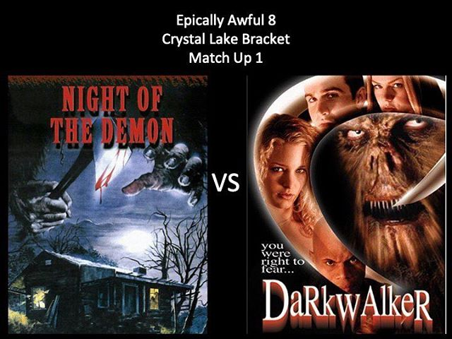 WHICH IS WORSE?! Vote in the comments below! We have Night of the Demon vs Dark Walker. Keep voting Moongoons! #nightofthedemon #darkwalker #isdarkwalker1wordor2 #bigfoot #bigfoothorrormovie #marchmoviemadness #horriblehorrorpodcast #horrorpodcast #moongoons