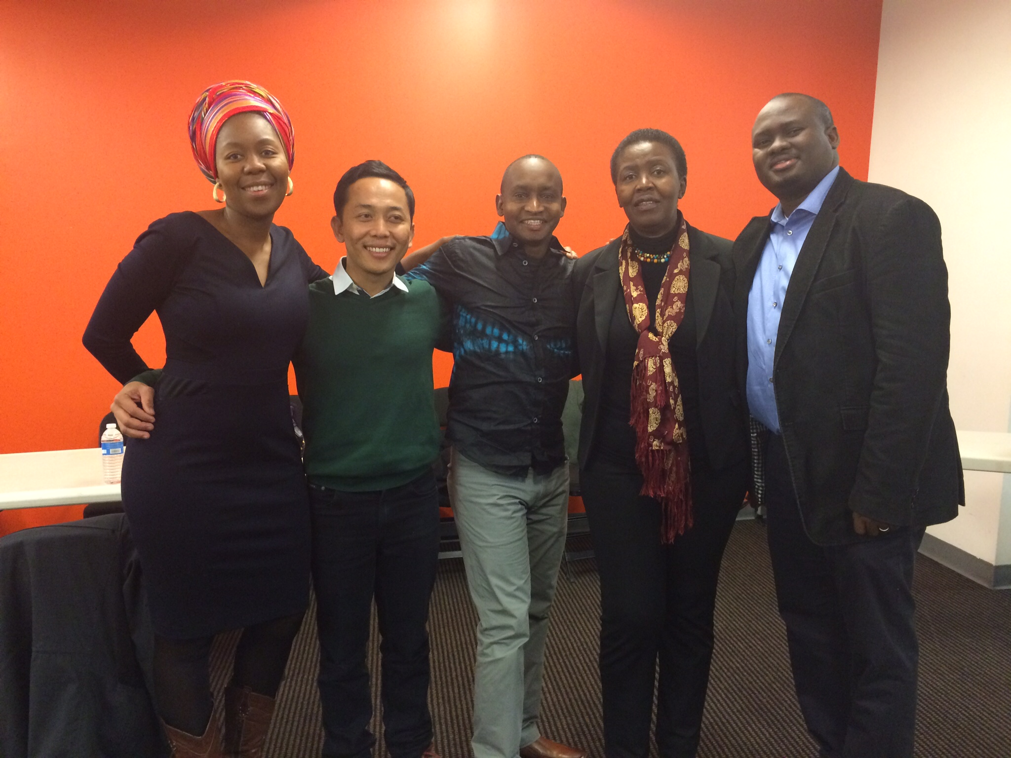 Kassaga with Aspen Institute New Voices Fellows in Washington D.C. November 2014
