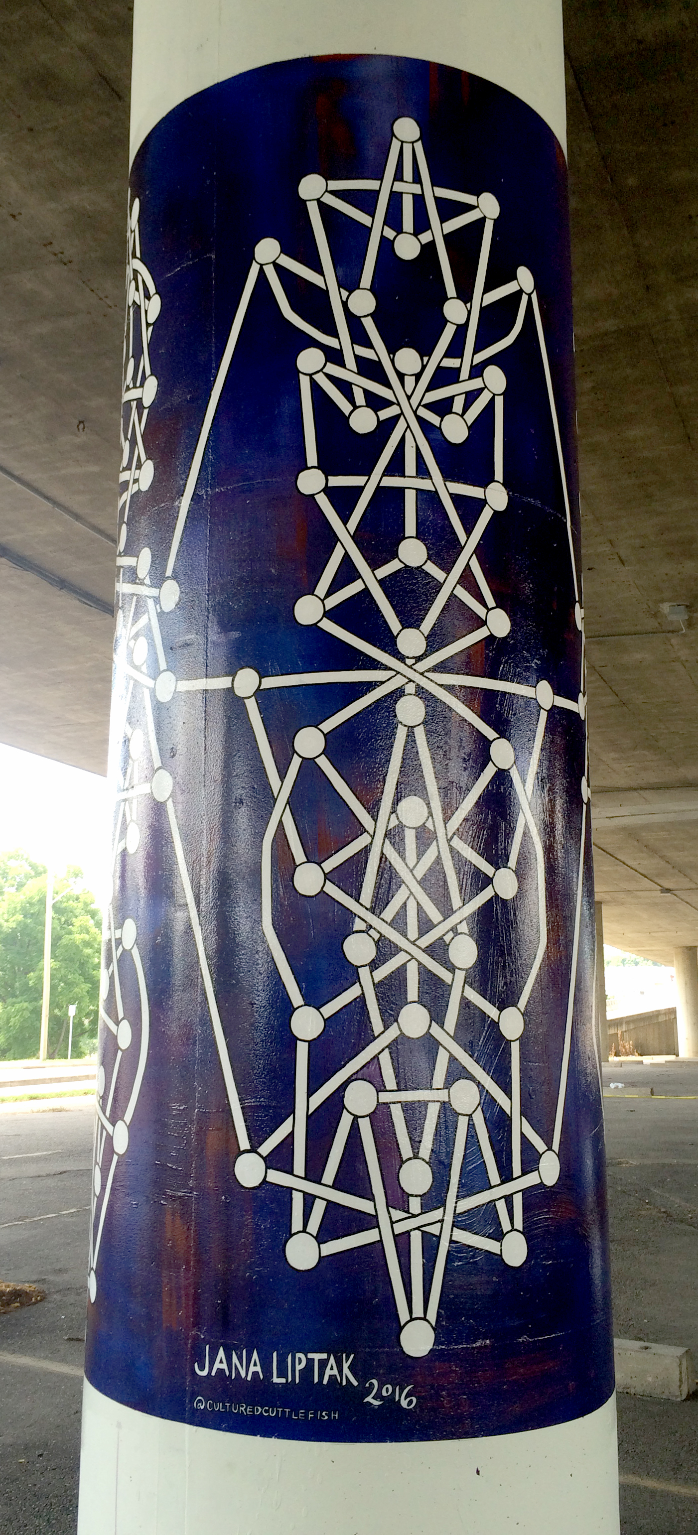 """""""System #7"""" Public art commission from the city of Charleston, WV. Installed on Lee Street, under the I64 underpass in July 2016."""