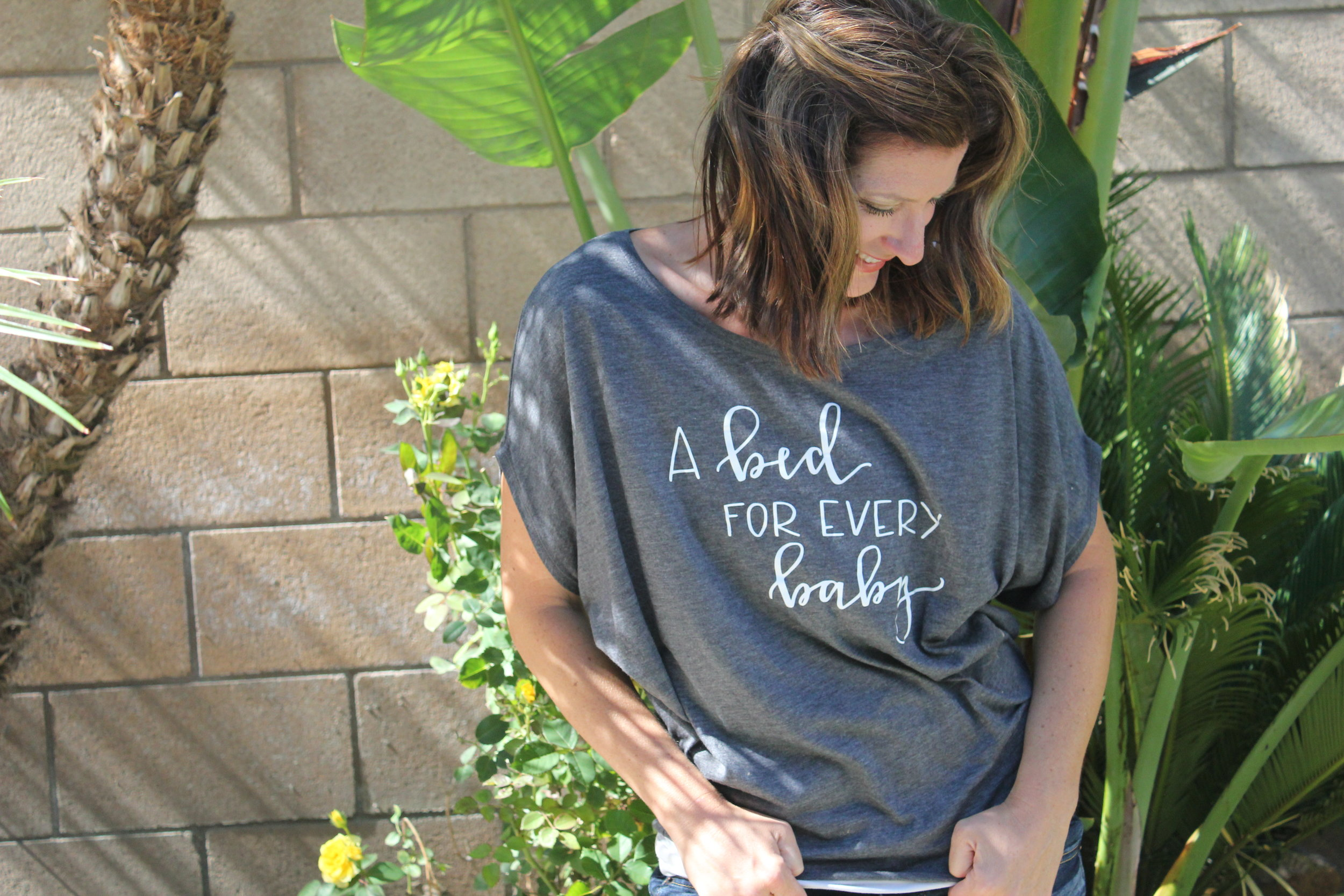 Bithiah's House - A Bed for Every Baby - a nonprofit organization OC Shirt Shop donates to with shirt sales