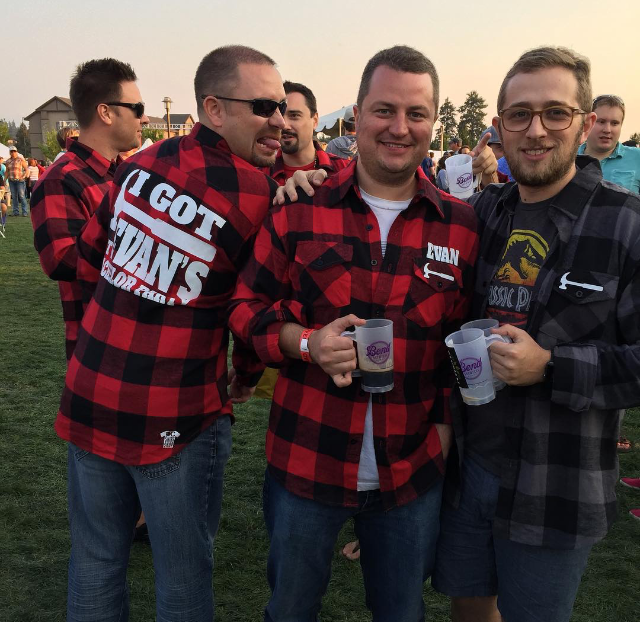Custom Flannel Shirts for Evan's Bachelor Party