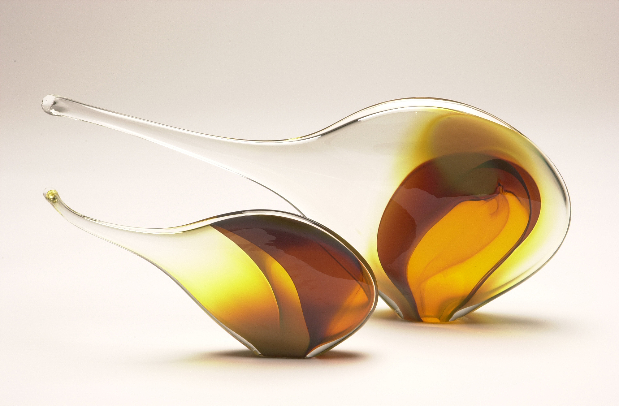 """Fish Forms - Iris"" 2003 largest form H300mm x L500mm x W800mm"