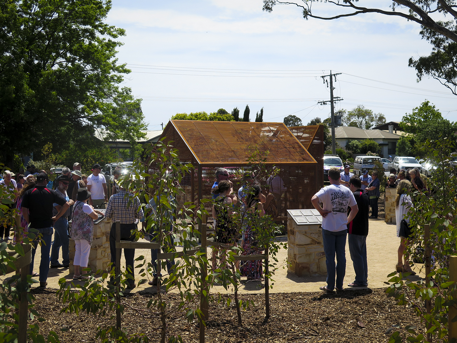 """Shelter - A Timber Workers Hut"" Opening for the Timber Workers Memorial, Dec 2015"