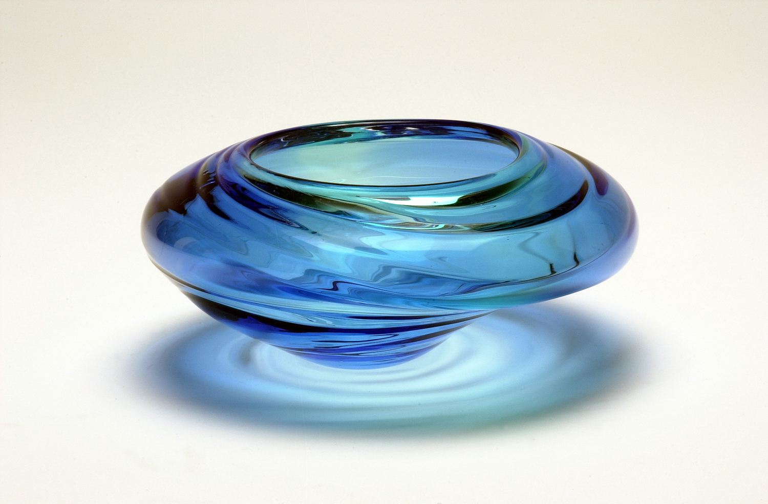 """Water Form - Blue"" 2003 H300mm x W330mm x D330mm"