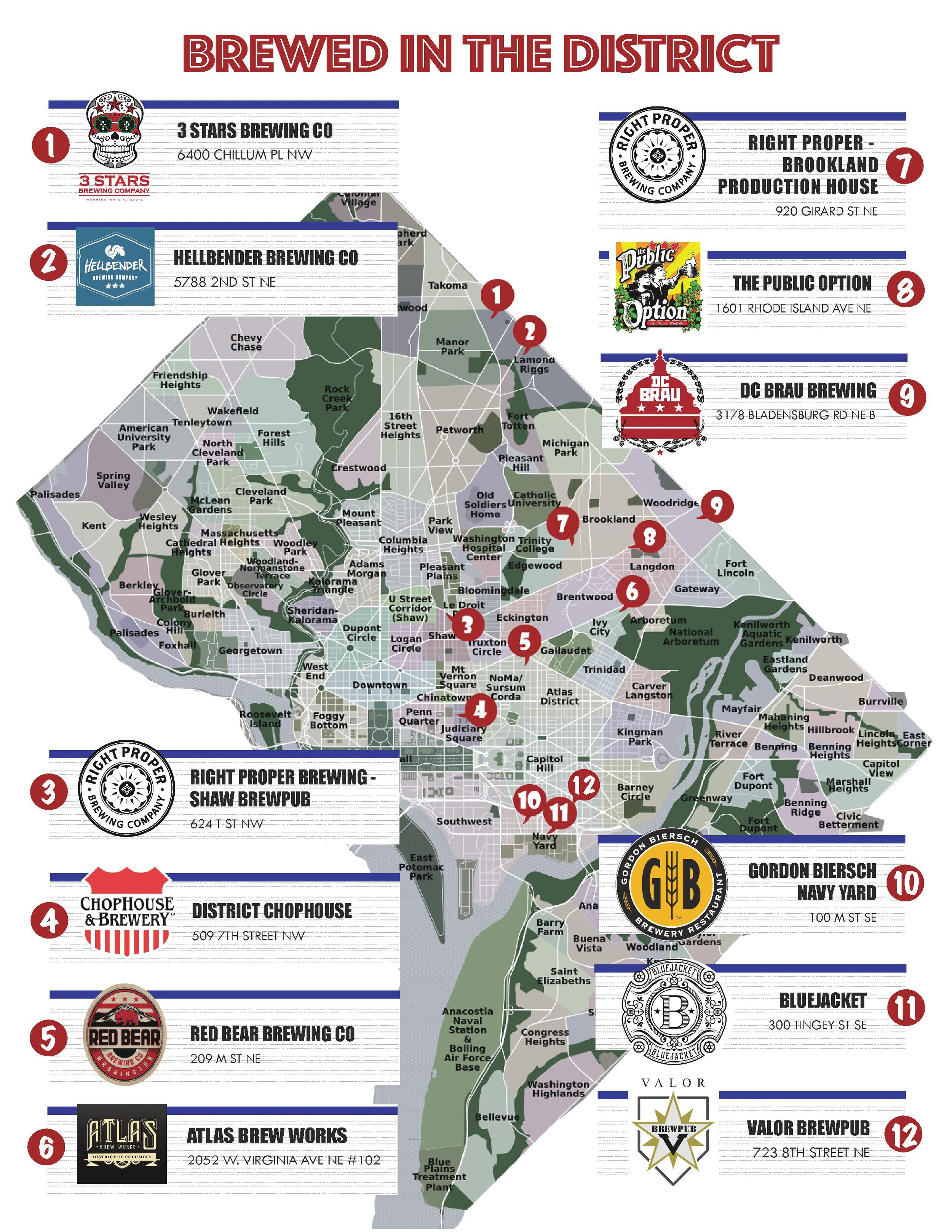 new hampshire brewery map Dc Brewers Map Dc Brewers Guild new hampshire brewery map