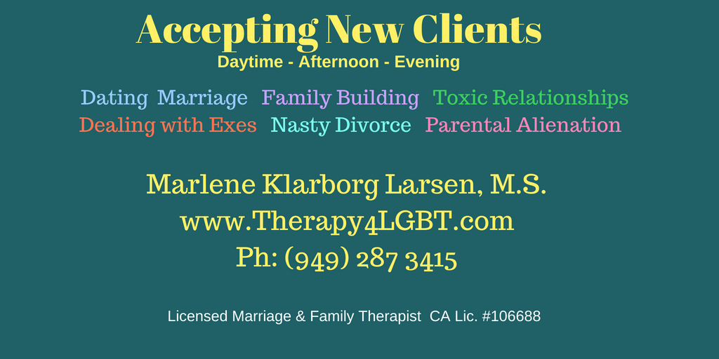 Marlene Klarborg Larsen Gay therapist Gay Lesbian LGBT Therapy in Orange County OC Long Beach divorce dating dissolution preparation for court.jpg