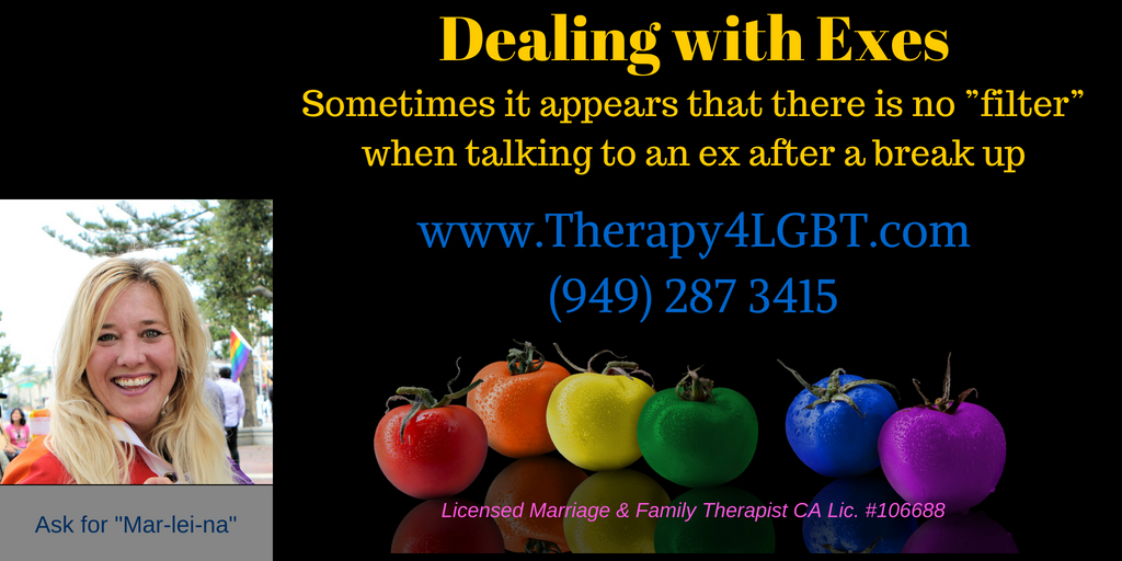 Gay Divorce Counseling LGBT Therapy Break Up Therapy4LGBT Marlene Klarborg Larsen Gay and lesbian counseling orange county long beach Dealing with Exes.jpg