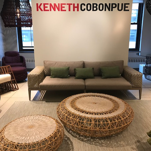 We were very excited to see the Kenneth Cobonpue New York showroom! #furnitureisart #newyorkcity #interiordesign #indoor/outdoor @fusempls @kennethcobonpue