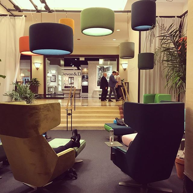 @buzzispace introduces a new pendant - multiple colors and sizes make this one fun to cluster.  #acoustics #felt #interiors #interiordesign #neocon #architecture #chicago #fusempls  #buzzispace