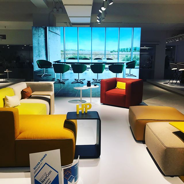 @andreuworld delivers gorgeous new designs. #andreuworld #neocon #chicago #interiordesogn #furnishings #design #interiors #fusempls