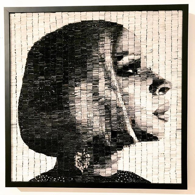 @maryjblige was featured on @cbssundaymorning today. What an beautiful individual. @tonidachis captures her radiance in this 36x36 paper collage.